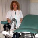 fotel ginekologiczny czyli miejsce gdzie badam pacjentki